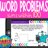 Boom Card Deck: 1 Step Addition Word Problems (within 100)