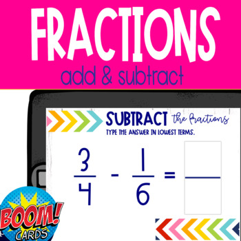 Boom Card Deck: Add & Subtract Fractions