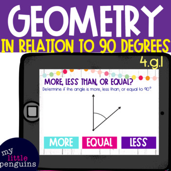 Boom Card Deck: Determine Angles in Relation to 90 degrees 4.g.1
