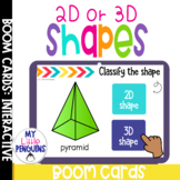 Boom Card Deck*: Geometry Classifying Shapes as 2D or 3D   2D & 3D Shapes Boom