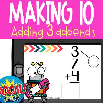 Boom Card Deck: Making 10 when Adding