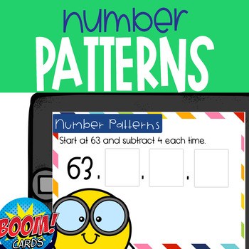 Boom Card Deck: Number Patterns with a Given Rule