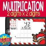 Boom Card Deck: Reindeer Multiplication 2x2 Digit