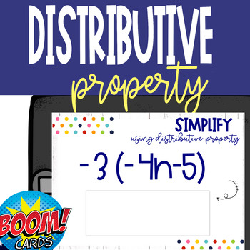 Boom Card Deck: Simplify using Distributive Property