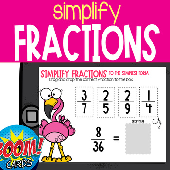 Boom Card Deck: Simplifying Fractions 4.nf