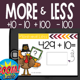 Boom Card Deck: Turkey 10 and 100 more or less