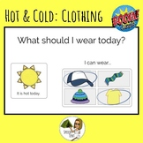 Boom Card: Hot & Cold clothes