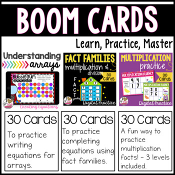 Boom Card Multiplication Bundle Distance Learning