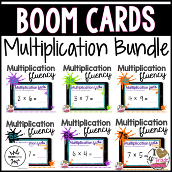 Boom Card Multiplication Fluency Bundle