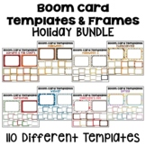 Boom Card Templates and Frames Holiday BUNDLE