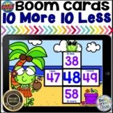 Boom Cards 10 More 10 Less Math Center