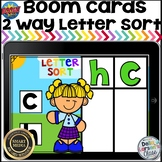 Boom Cards 2 Way letter Sort