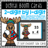 Boom Cards: 2-digit by 1-digit Multiplication | Distance Learning