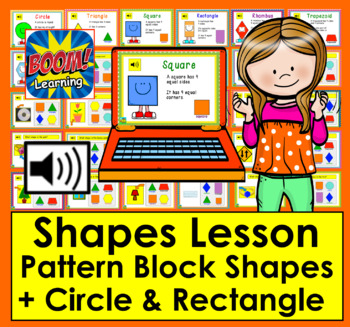 Boom Cards Math  2d Shapes Lesson & Practice: 30 Interactive Cards With Sound!