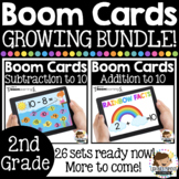 Boom Cards™ 2nd Grade Math GROWING BUNDLE - Distance Learning
