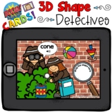 Boom Cards - 3D Shape Detectives - Distant Learning