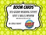 Boom Cards-3rd Grade Reading Street Unit 5 Skills