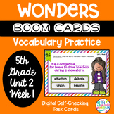 Boom Cards 5th Grade Wonders Unit 2 Week 1 Vocabulary Prac