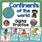 Boom Cards 7 Continents of the World Digital Practice