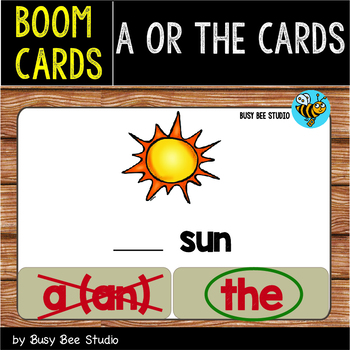 Boom Cards | A or The? | Easy Grammar for Young Learners