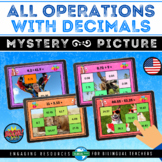 Boom Cards™ ALL OPERATIONS WITH DECIMALS Mystery Picture | 5th Summer School