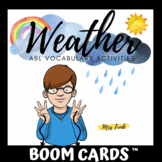 Boom Cards: ASL Weather Vocabulary Activities