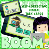 Boom Cards AU and AW Diphthongs Word Building, Segmenting,