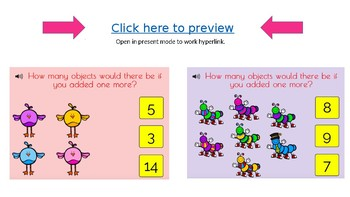 Boom Cards: Adding 1 to numbers 1-10 with choices