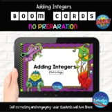 Adding Integers - 25 Boom Cards - $$Dollar Deals