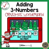 Boom Cards Adding Three Numbers Christmas