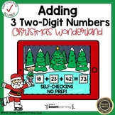 Boom Cards Adding Three Two-Digit Numbers Christmas