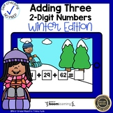 Boom Cards Adding Three Two-Digit Numbers Winter