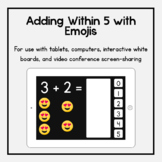 Boom Cards: Adding Within 5 with Emojis