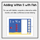 Boom Cards: Adding Within 5 with Fish