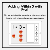 Boom Cards: Adding Within 5 with Fruit