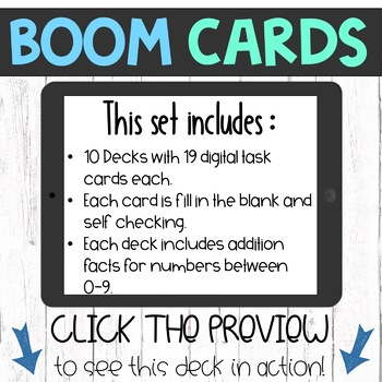 Boom Cards - Addition Facts