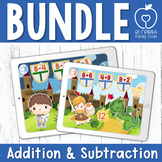 Boom Cards™ Addition Subtraction Medieval Themed Bundle