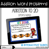 Addition Word Problems To 20   Boom Cards™   Distance Learning