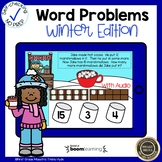 Boom Cards Addition Word Problems Winter First Grade
