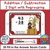 Boom Cards • Addition and Subtraction with Regrouping • Fall Harvest