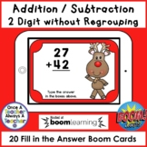 Boom Cards • Addition and Subtraction without Regrouping •