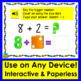 Boom Cards Math Addition to 10: Counting On Dice Dots - Type Answers -With Sound