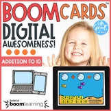 Boom Cards™ ● Addition to 10 ● Fish Theme