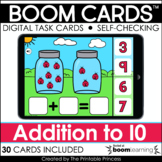 Boom Cards™ Addition to 10 | Kindergarten Distance Learning