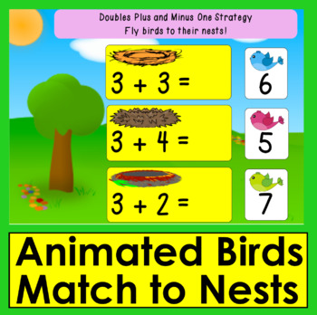 Boom Cards Math  Addition to 20: Doubles Plus and Minus 1 Strategy - Animated!