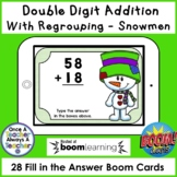 Boom Cards • Addition with Regrouping • Snowmen