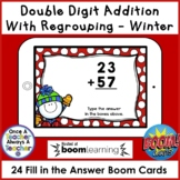Boom Cards • Addition with Regrouping • Winter