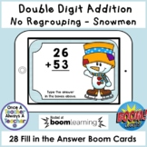Boom Cards • Addition with no Regrouping • Snowmen