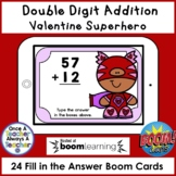 Boom Cards • Addition with no Regrouping • Valentine Superhero