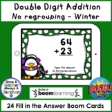 Boom Cards • Addition with no Regrouping • Winter